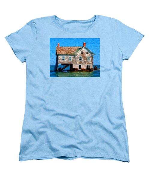 The Last House On Holland Island Women's T-Shirt (Standard Cut) by Michael Pickett