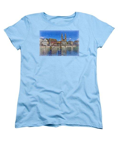 The Limmat City Women's T-Shirt (Standard Cut) by Hanny Heim