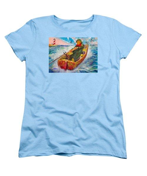 The Lone Boatman Women's T-Shirt (Standard Cut) by Seth Weaver