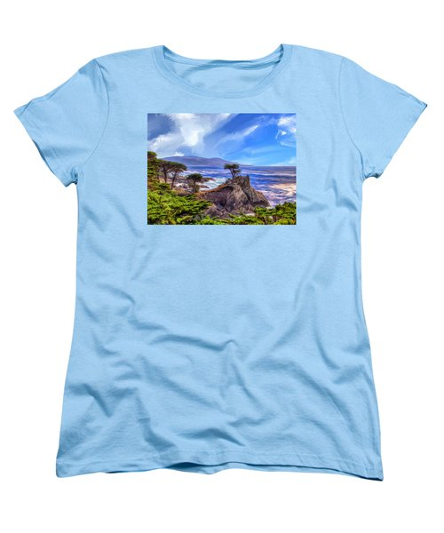 The Lone Cypress Women's T-Shirt (Standard Cut) by Dominic Piperata