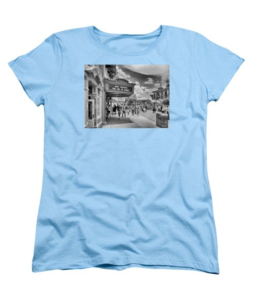 Women's T-Shirt (Standard Cut) featuring the photograph The Main Street Cinema by Howard Salmon