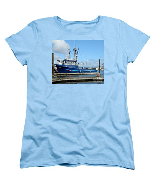 The Mighty Blue Women's T-Shirt (Standard Cut) by Chalet Roome-Rigdon