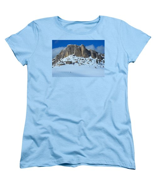 Women's T-Shirt (Standard Cut) featuring the photograph The Mountain Citadel by Michele Myers