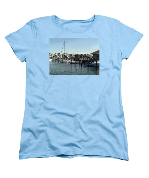 Women's T-Shirt (Standard Cut) featuring the photograph The Narrows by Charles Kraus