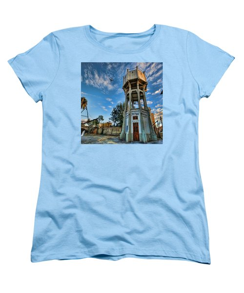 Women's T-Shirt (Standard Cut) featuring the photograph The Old Water Tower Of Tel Aviv by Ron Shoshani