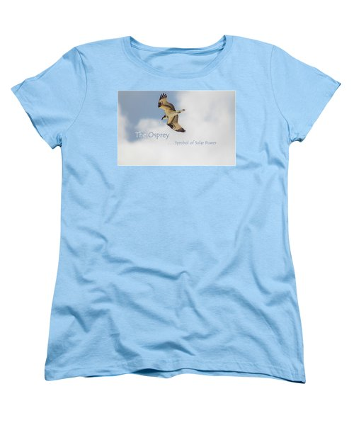 Women's T-Shirt (Standard Cut) featuring the photograph The Osprey by DigiArt Diaries by Vicky B Fuller