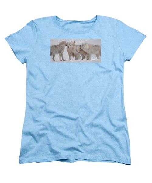 Women's T-Shirt (Standard Cut) featuring the photograph The Pack by Bianca Nadeau