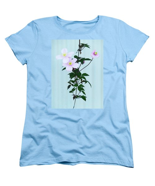 The Pink Clematis Women's T-Shirt (Standard Cut) by Steve Taylor