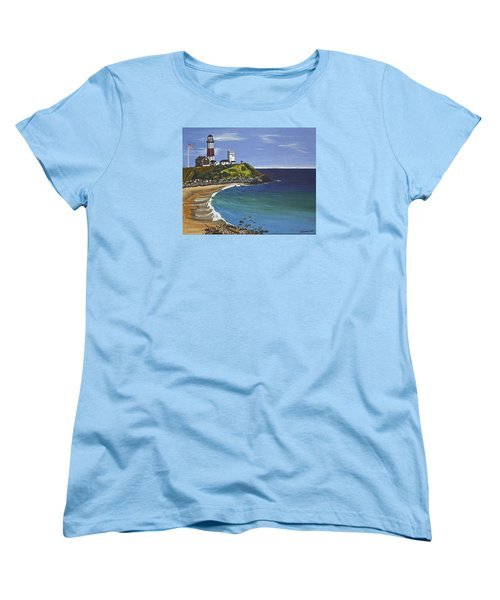 The Point Women's T-Shirt (Standard Cut) by Donna Blossom