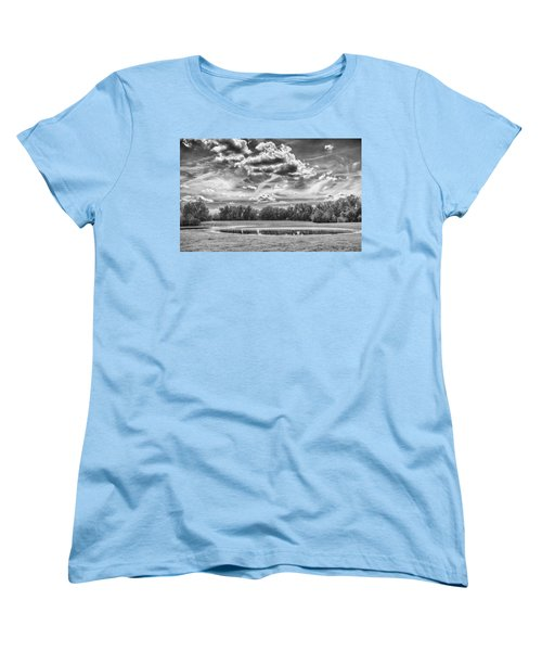Women's T-Shirt (Standard Cut) featuring the photograph The Pond by Howard Salmon