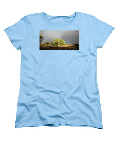The Rain And The Rainbow Women's T-Shirt (Standard Cut) by Lucinda Walter