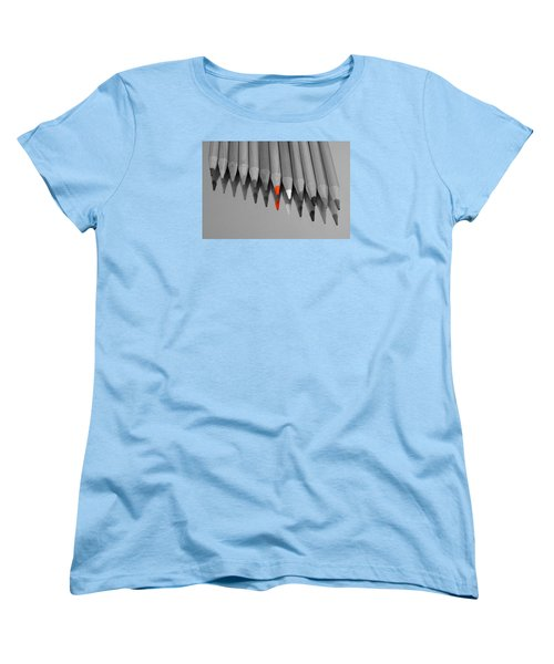 Women's T-Shirt (Standard Cut) featuring the photograph The Red Pencil by Kathy Churchman