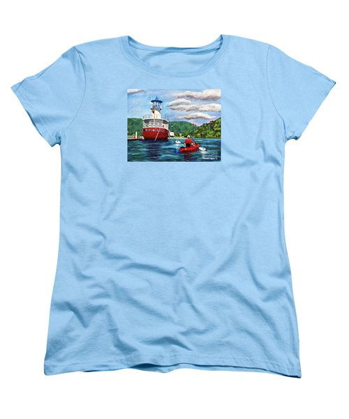 Out Kayaking Women's T-Shirt (Standard Cut) by Laura Forde