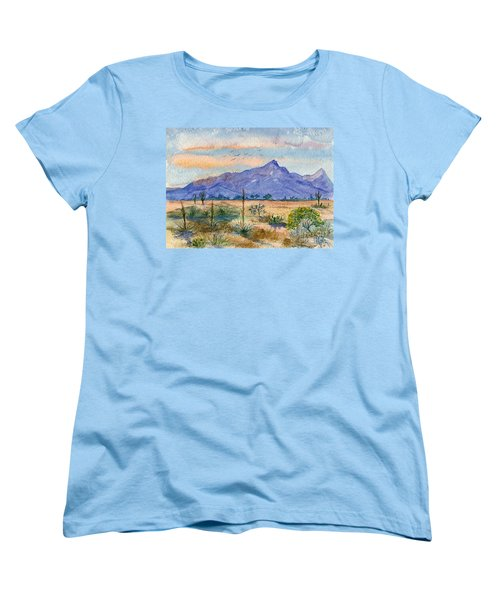 The San Tans Women's T-Shirt (Standard Cut) by Marilyn Smith