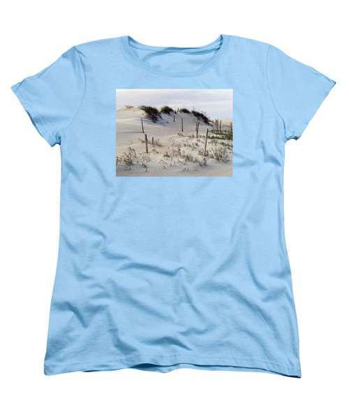 Women's T-Shirt (Standard Cut) featuring the photograph The Sands Of Obx by Greg Reed