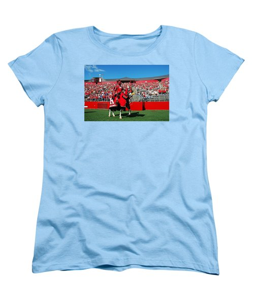 The Scarlet Knight And His Noble Steed Women's T-Shirt (Standard Cut) by Allen Beatty