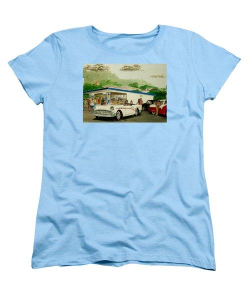 The Shake Shoppe Portsmouth Ohio 1960 Women's T-Shirt (Standard Cut) by Frank Hunter