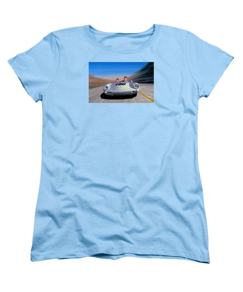 Women's T-Shirt (Standard Cut) featuring the painting The Spirit Lives by Michael Swanson