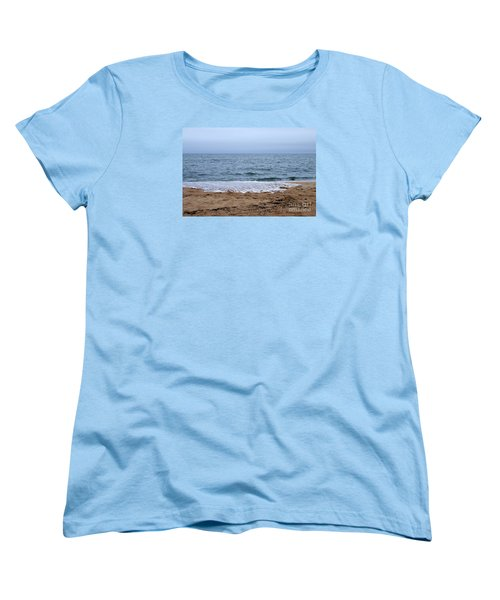 The Splash Over On A Sandy Beach Women's T-Shirt (Standard Cut) by Eunice Miller