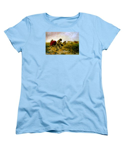 Women's T-Shirt (Standard Cut) featuring the painting The Storm by Henryk Gorecki