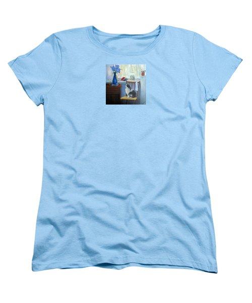 The Studio Cat Women's T-Shirt (Standard Cut) by Loretta Luglio