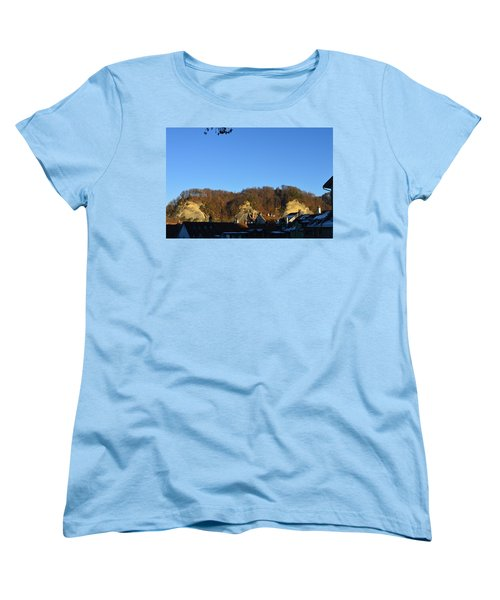 Women's T-Shirt (Standard Cut) featuring the photograph The Three Stones From Burgdorf by Felicia Tica