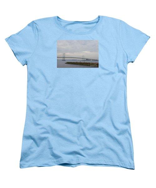 Women's T-Shirt (Standard Cut) featuring the photograph The Throgs Neck Bridge by John Telfer