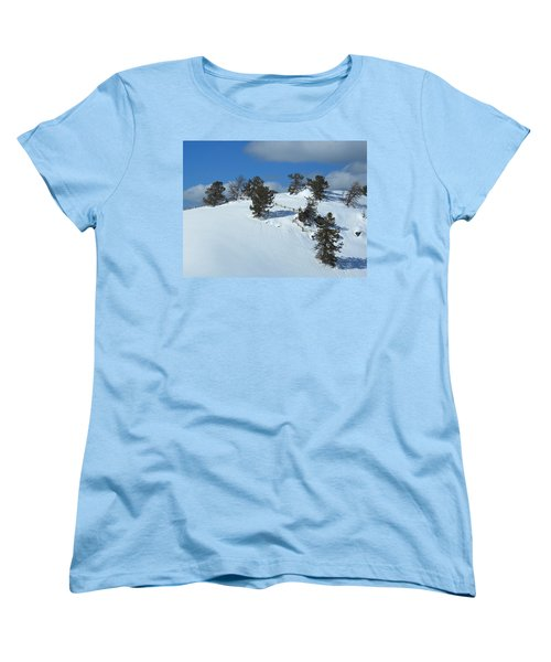 Women's T-Shirt (Standard Cut) featuring the photograph The Trees Take A Snow Day by Michele Myers