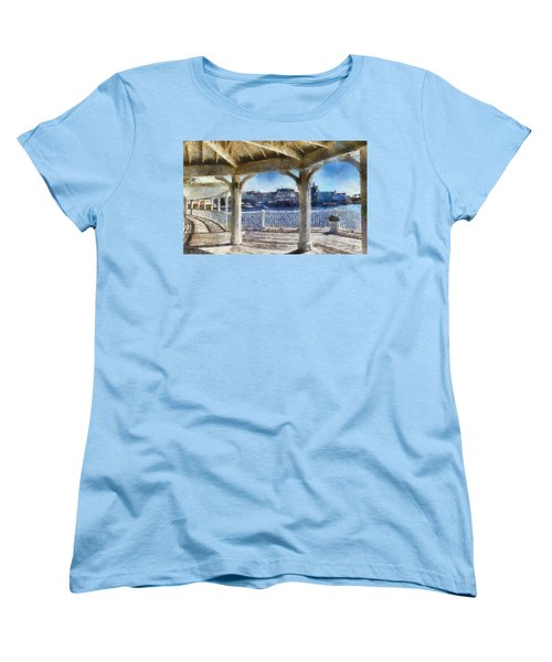 The View From The Boardwalk Gazebo Wdw 02 Photo Art Women's T-Shirt (Standard Cut) by Thomas Woolworth
