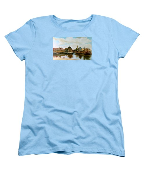 Women's T-Shirt (Standard Cut) featuring the painting The View Of Delft by Henryk Gorecki