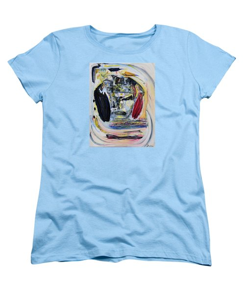 Women's T-Shirt (Standard Cut) featuring the painting The Vision Of Ironstar by Kicking Bear  Productions