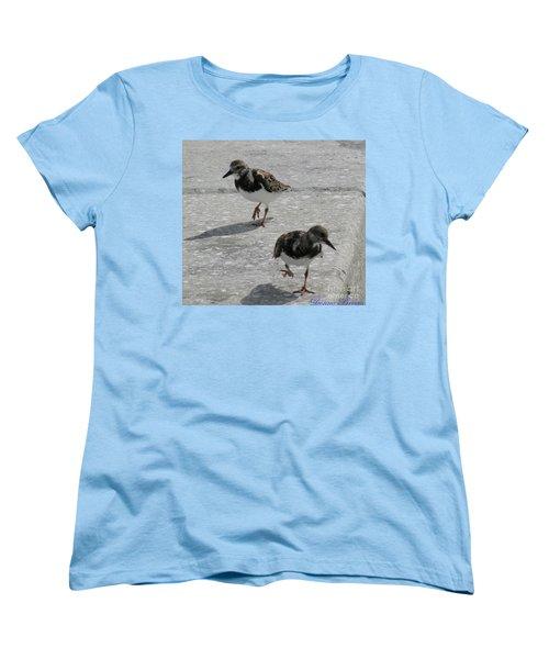 The Walk Women's T-Shirt (Standard Cut) by Donna Brown