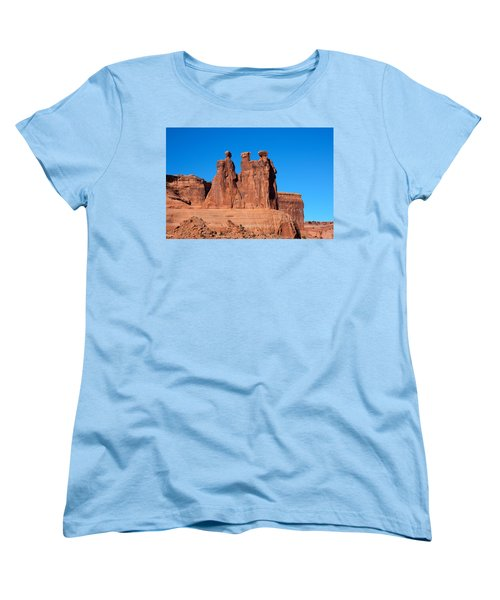 Women's T-Shirt (Standard Cut) featuring the photograph The Watchers by John M Bailey