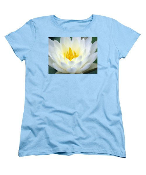 Women's T-Shirt (Standard Cut) featuring the photograph The Water Lilies Collection - 05 by Pamela Critchlow
