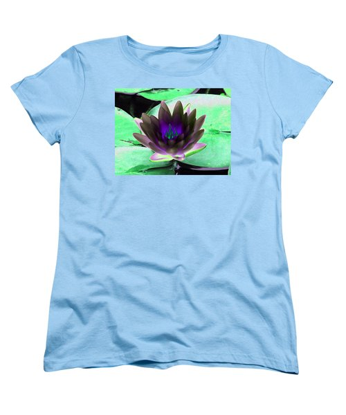 Women's T-Shirt (Standard Cut) featuring the photograph The Water Lilies Collection - Photopower 1116 by Pamela Critchlow