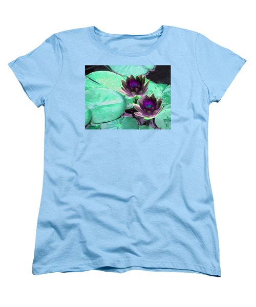 Women's T-Shirt (Standard Cut) featuring the photograph The Water Lilies Collection - Photopower 1118 by Pamela Critchlow