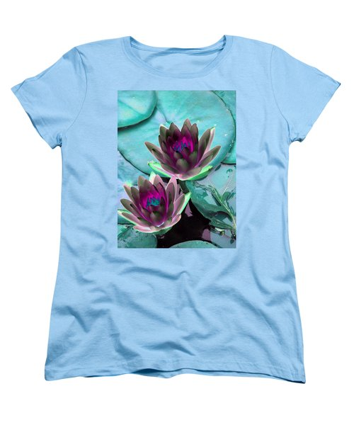 Women's T-Shirt (Standard Cut) featuring the photograph The Water Lilies Collection - Photopower 1124 by Pamela Critchlow