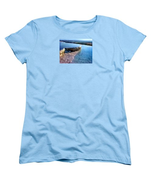The Water With White Paint Women's T-Shirt (Standard Cut) by Zafer Gurel