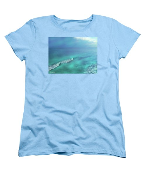 The Wave Women's T-Shirt (Standard Cut) by Becky Lupe