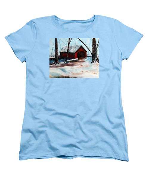 Women's T-Shirt (Standard Cut) featuring the painting The Way Home by Meaghan Troup
