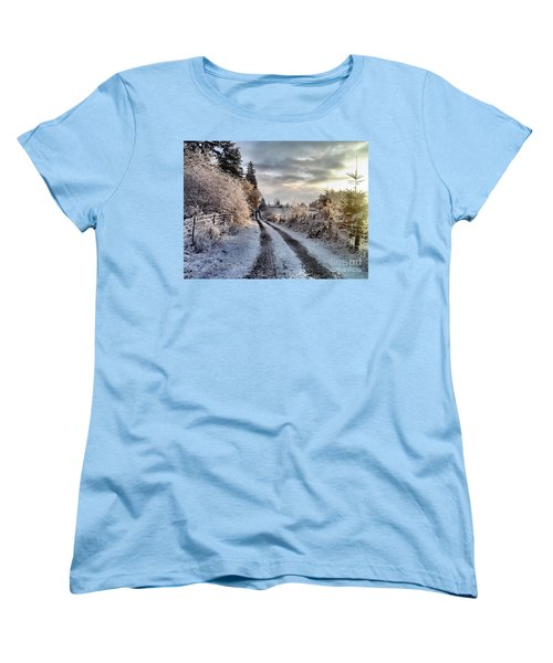 Women's T-Shirt (Standard Cut) featuring the photograph The Way Home by Rory Sagner
