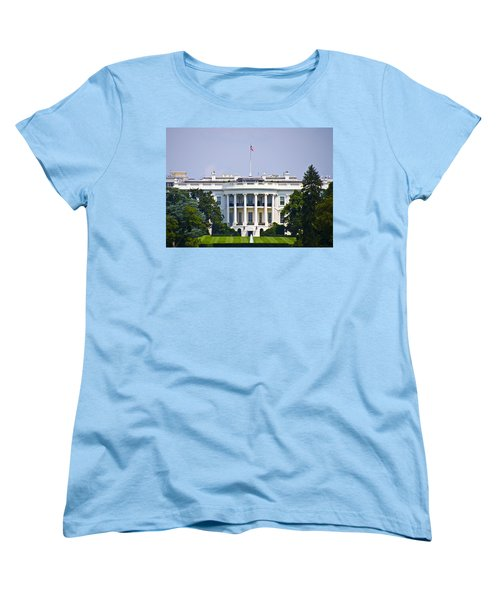 The Whitehouse - Washington Dc Women's T-Shirt (Standard Cut) by Bill Cannon