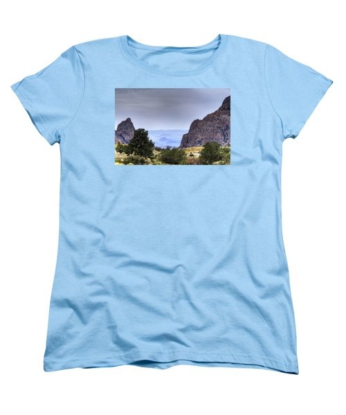 The Window View Women's T-Shirt (Standard Cut) by Dave Files