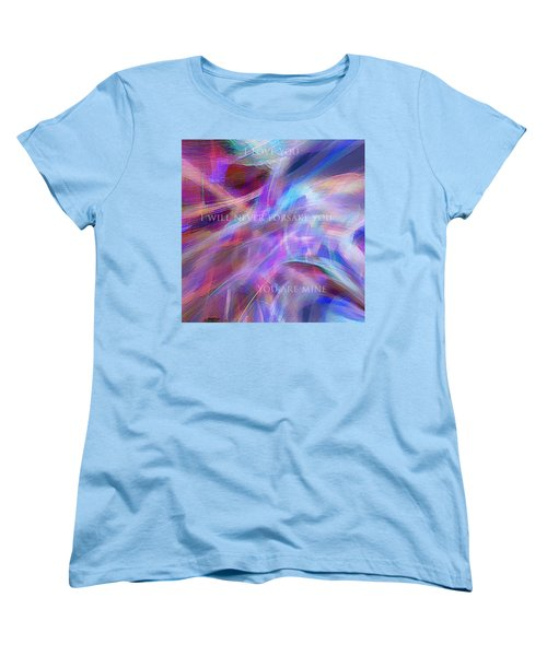 Women's T-Shirt (Standard Cut) featuring the digital art The Writing's On The Wall by Margie Chapman