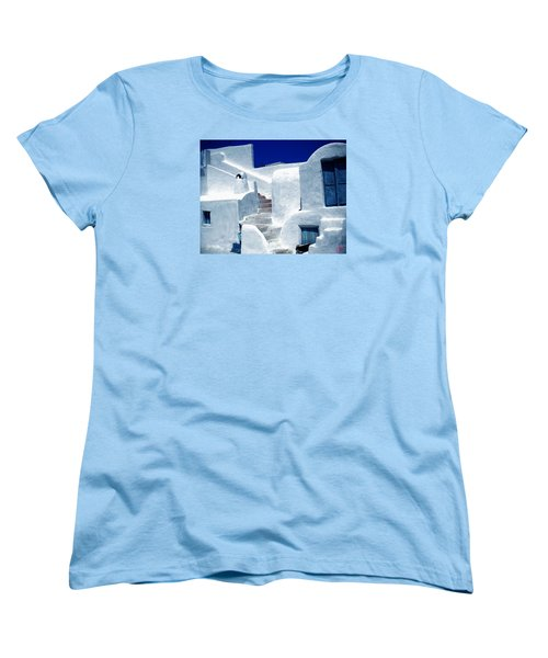 Thirasia Island Ancient House Near Santorini Greece Women's T-Shirt (Standard Cut) by Colette V Hera  Guggenheim