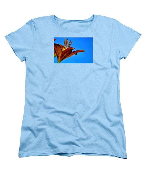 Thirsty Lily In Hdr Art Women's T-Shirt (Standard Cut) by Lesa Fine