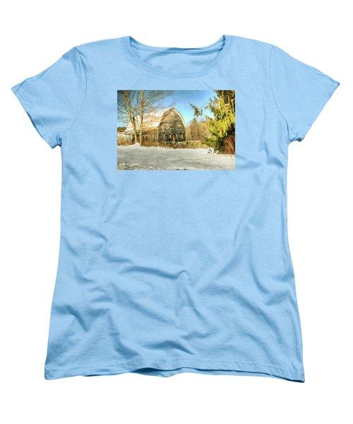 This Old Barn Women's T-Shirt (Standard Cut) by Tina  LeCour