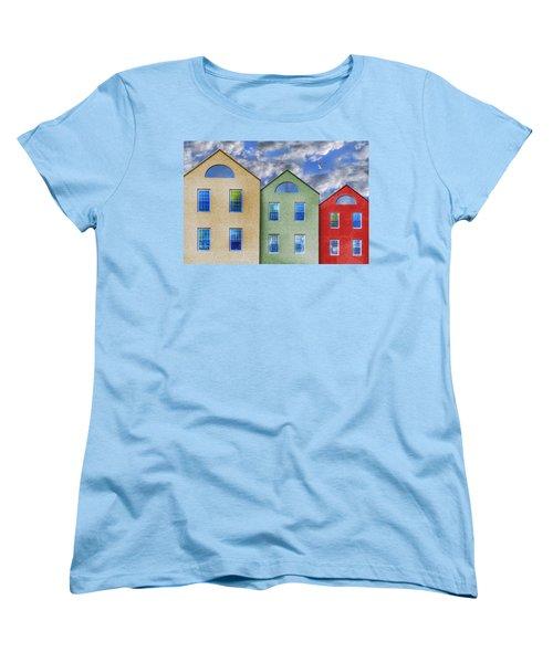 Three Buildings And A Bird Women's T-Shirt (Standard Cut)