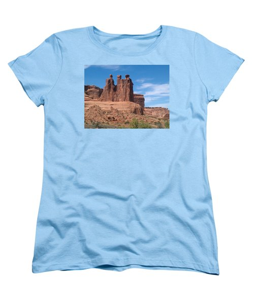 Women's T-Shirt (Standard Cut) featuring the photograph Three Kings by Fortunate Findings Shirley Dickerson