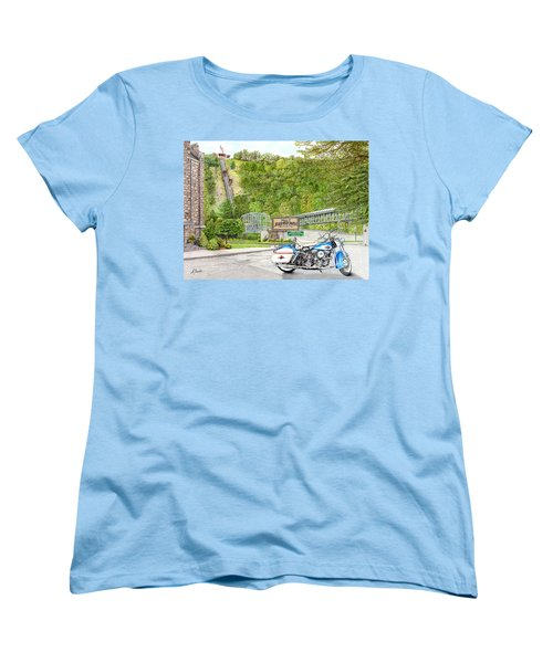 Women's T-Shirt (Standard Cut) featuring the painting Thunder In Johnstown by Albert Puskaric